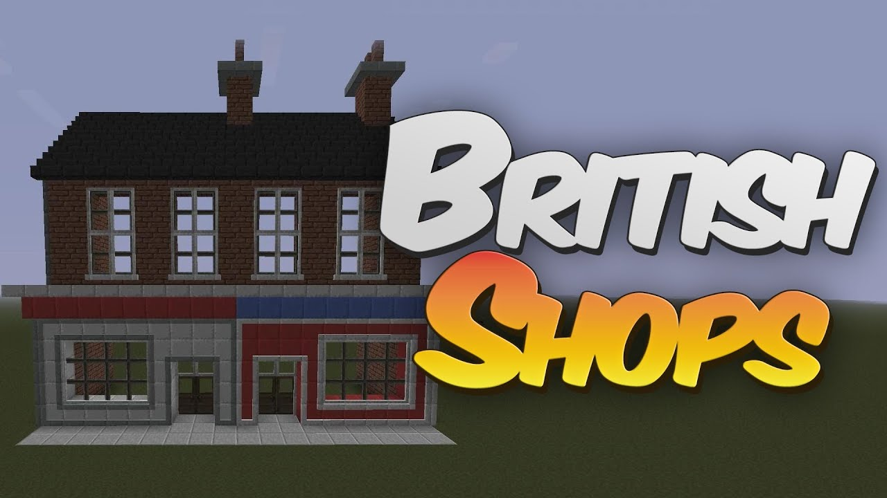 British Terraced Shop Front In Minecraft Designing With