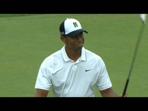 Tiger Woods closes Round 2 with a birdie at The Greenbrier