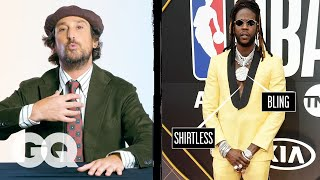 Fashion Expert Breaks Down Celebrity Suits Pt 1, From 2 Chainz to Cole Sprouse | Fine Points | GQ