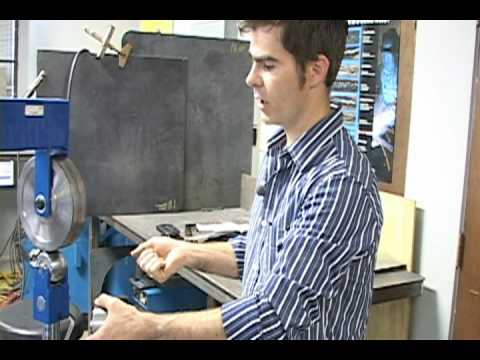 How an English wheel can be used to bend sheet metal