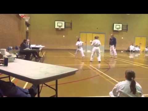 Kristina From Ataru Passing Shodan KUGB Kumite At Lichfield