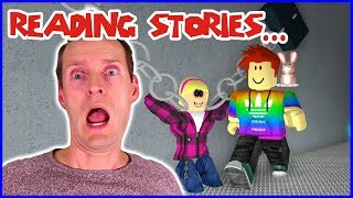 Look at these CHAINS!!! Reading Scary Stories in Roblox
