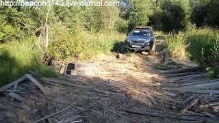 Great Wall Hover H3 New turbo - Через реку по гати / Crossing a river using levee