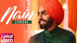 Nain | Lyrical Song | Ammy Virk | Gurlez Akhtar | Latest Punjabi Song 2018 | Speed Records