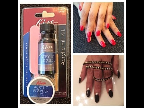 Kiss Acrylic Nail Kit: Review and Demo. DIY