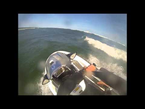 Trening Na Skuterze Wodnym Na Morzu.
