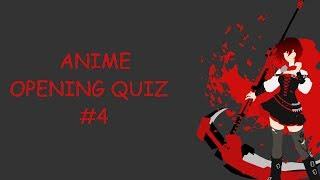 60 Anime Opening Quiz #4