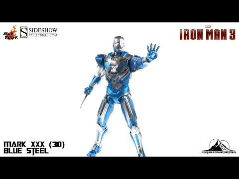 Optibotimus Reviews: Hot Toys Iron Man 3 Mark XXX (30) BLUE STEEL