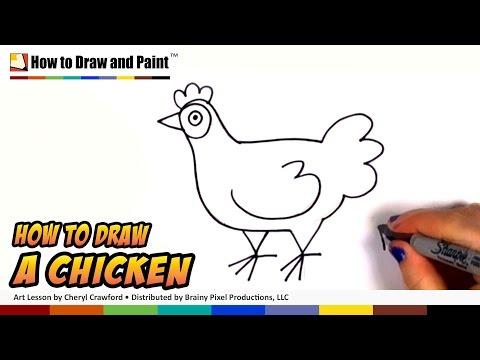 Видео как нарисовать кур