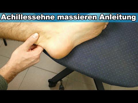 Achillessehne selbst massieren bei Achillessehnenentzündung – Anleitung Ferse schmerzt entzündet