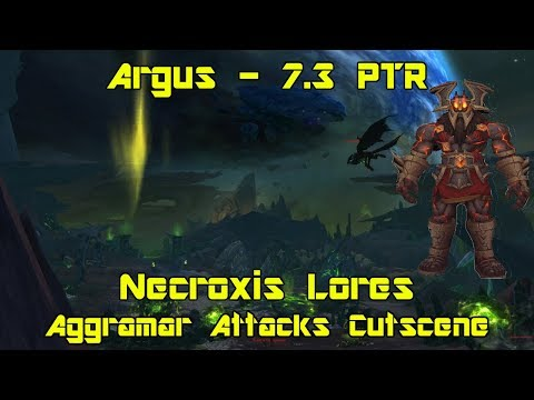 World of Warcraft: Legion [7.3 PTR] - Aggramar Attacks In-Game Cutscene
