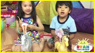 Kids Playtime Pretend Play Children Activities Frozen Elsa Surprise Toys Balloons Pop
