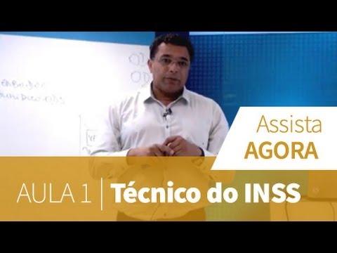 Técnico Do Inss - Aula Grátis 1 video