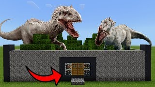 How To Live Inside an INDOMINUS REX Farm in Minecraft PE | MCPE Journalist