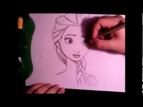 HAZ UN DIBUJO DE ELSA FROZEN. Como Dibujar A Elsa A Lapiz Paso A Paso. Tutorial Dibujo Para Niños