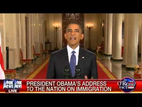 PRESIDENT OBAMA'S ADDRESS TO THE NATION ON IMMIGRATION