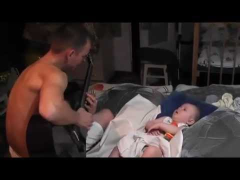 Dad Sings Baby To Sleep With Metallica