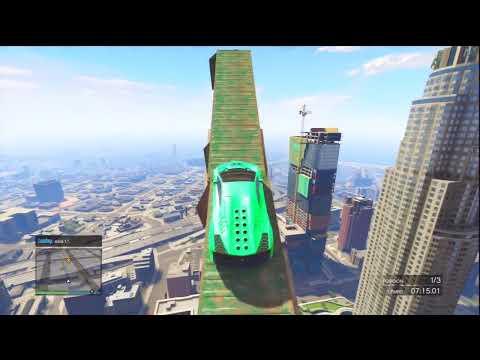 100% IMPOSIBLE!! SALTO FINAL ÉPICO!!! - Gameplay GTA 5 Online Funny Moments