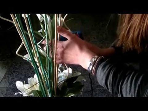 DIY: MANUALIDADES ARREGLO  FLORAL ( en jarron alto ).
