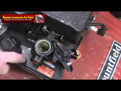 Repairing Lawnmowers For Profit Part 61 (Governor Spring Help)
