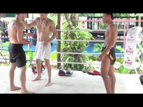Jon Fitch doing clinch drills in Thailand p.1 Image 1