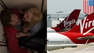 امرأة بريطانية ثملة تمارس الجنس في طائرة لشركة فيرجن في طريقها إلى لاس فيغاس