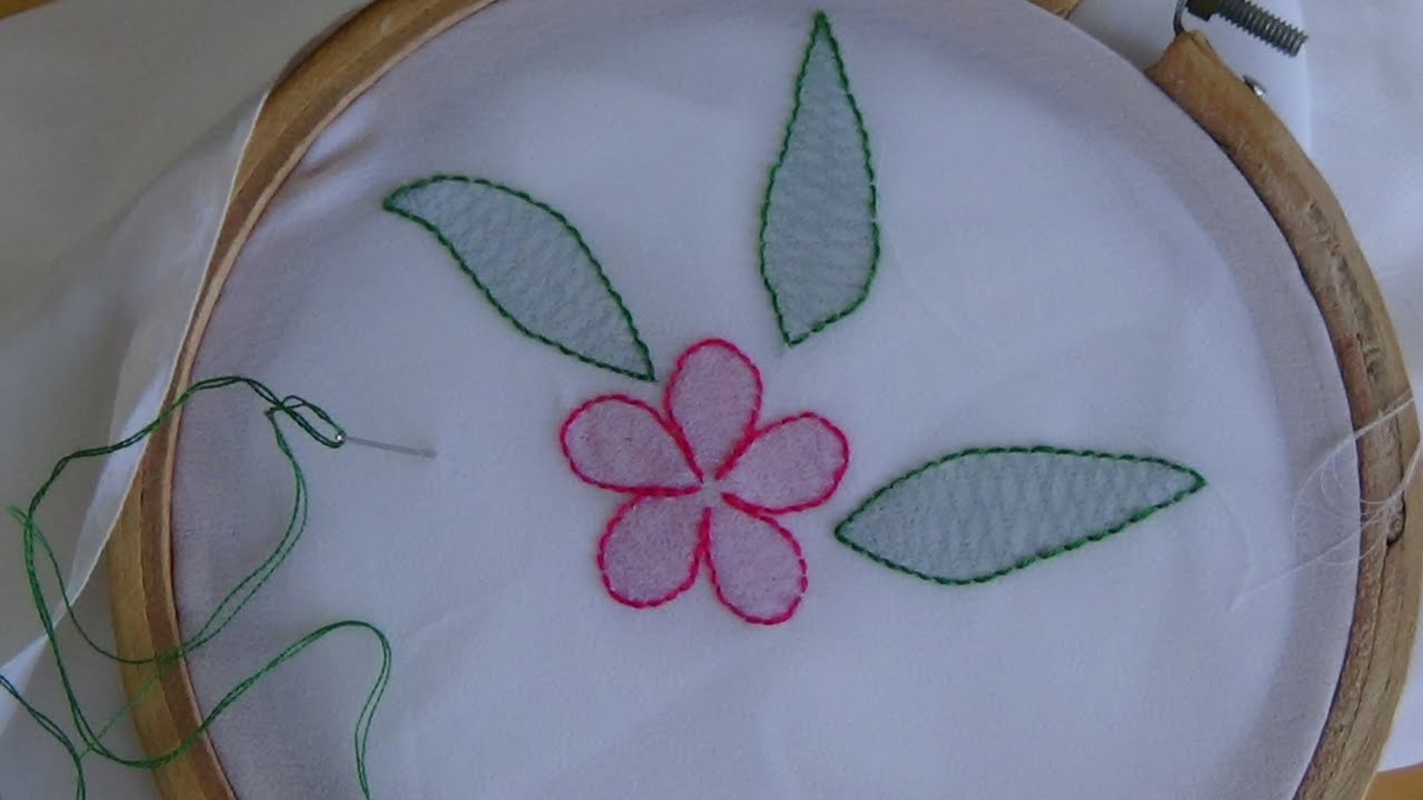 Hand Embroidery Shadow Work Stitch  YouTube