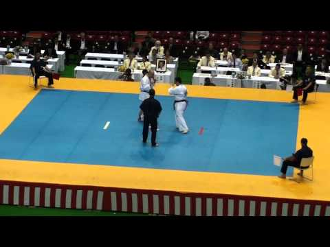 Eduardo Tanaka  vs Kris Erickson @ 10th World Open Kyokushin Karate Tournament Image 1