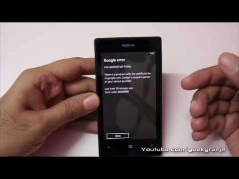 Windows Phone 8 Gmail Email Error on Nokia Lumia Phones