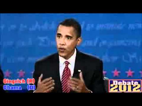 Debate between Newt and Obama - A taste of whats to come? (HQ)