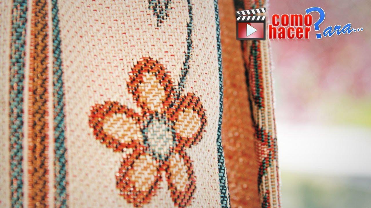 C mo hacer cuadros bordados con lana paso a paso youtube - Alfombra rafia ...