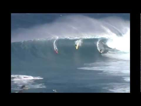 Big Wave Surfing Jaws Maui Surf Riders Massive Wipouts On 15m Barrel Wave January 2012 HD