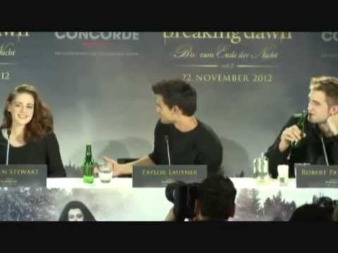 Twilight Breaking Dawn Part 2 Press Conference Berlin Kristen Stewart Robert Pattinson part 1