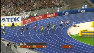 AMAZING ! Bolt run faster than 9'58 and 19'19 !
