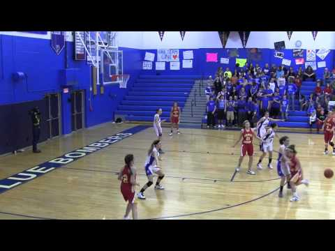 2012-13 Palmerton Blue Bombers girls basketball team vs Moravian Academy 02 14 2013