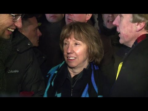 Catherine Ashton meets Yanukovych and opposition leaders in Kiev