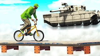 DODGE THE ROCKETS OF A FLYING TANK!  (GTA 5 Funny Moments)