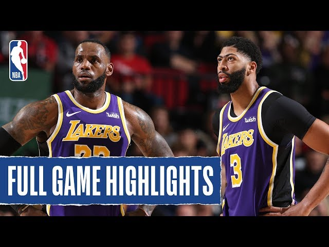 LAKERS at TRAIL BLAZERS   FULL GAME HIGHLIGHTS   December 6, 2019 thumbnail