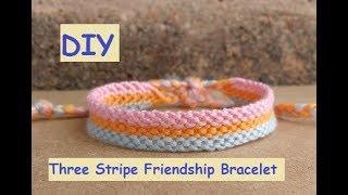 Friendship Bracelet: Three Stripe Pattern [worked as chevrons]