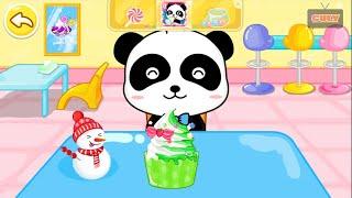 Gấu trúc Panda làm kem đi công viên ăn uống cu lỳ chơi game My Little Gourmet lồng tiếng vui