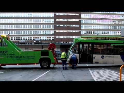 Preston Bus Breakdown Truck Towing Optare Solo PO56 RSX