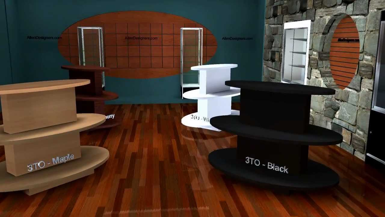 Diy Display Tables Oval Three Tiered Merchandising
