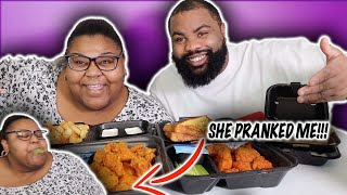 BUFFALO WINGS, FRIES AND TEXAS TOAST| ZAXBY'S MUKBANG| zaxbys| throw up prank| honey chicken wings