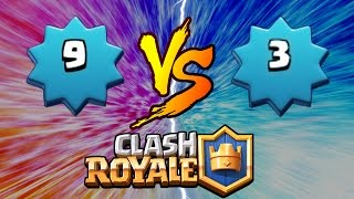 Clash Royale | LEVEL 9 TROLLING LEVEL 3!! | MOST EXPENSIVE TROLL DECK EVER! TROLLING ARENA 2!