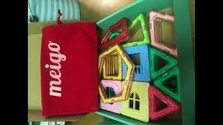 MEIGO Magnetic Blocks - Kids Magnetic Building Tiles STEM Educational Magnet (51pcs)
