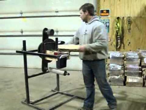 Hand Crank Firewood Bundler Demo by Johns Welding Shop
