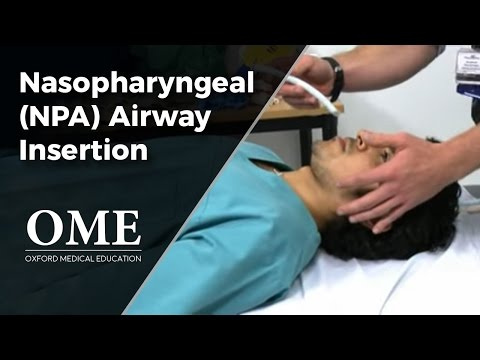 Nasopharyngeal Tube Insertion - Initial Assessment of a Trauma Patient.wmv