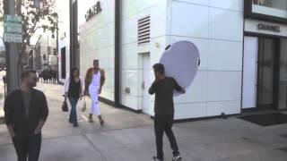 Magic Johnson's son, EJ Johnson & Dorothy Wang have a fashion shoot on Rodeo Drive