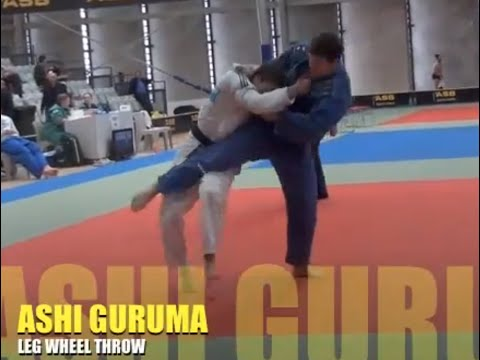 Ashi Guruma  3 contest examples LEG WHEEL JUDO THROW Image 1
