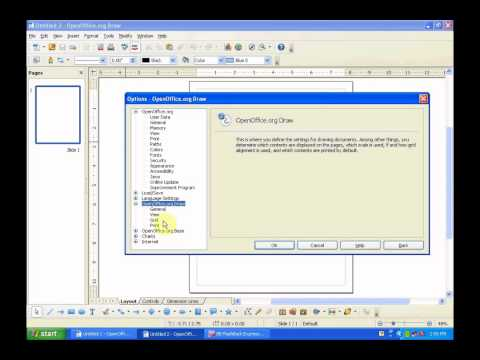 OpenOffice Draw part 1 Interface, Formatting and saving projects, tutorial, how to, introduction